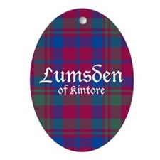 Tartan - Lumsden of Kintore Ornament (Oval)