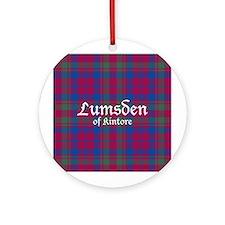 Tartan - Lumsden of Kintore Ornament (Round)