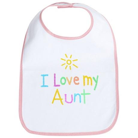 I Love My Aunt Bib By DesignCats
