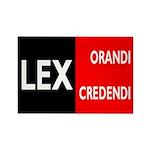 Lex Orandi Lex Credendi Rectangle Magnet