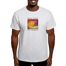 Warm Hearts, Not the Earth Ash Grey T-Shirt