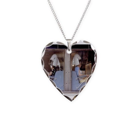Saturday Morning Astronauts Necklace Heart Charm