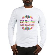 Camping Happy Long Sleeve T-Shirt