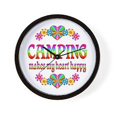Camping Happy Wall Clock