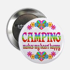 """Camping Happy 2.25"""" Button"""