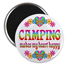 Camping Happy Magnet