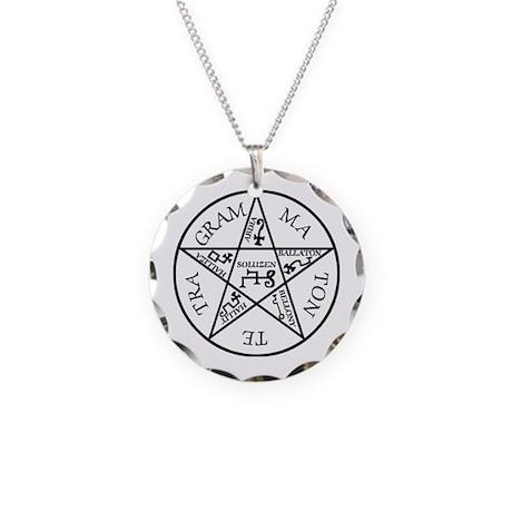 Pentagram of solomon Necklace Circle Charm