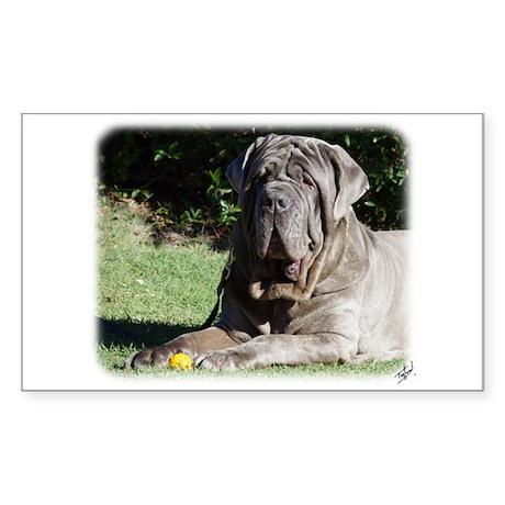 Neapolitan Mastiff AA018D-069 Sticker (Rectangle)