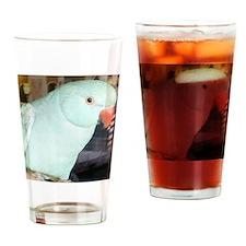Indian Ringneck Parakeet Drinking Glass