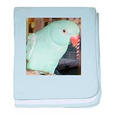 Indian Ringneck Parakeet baby blanket