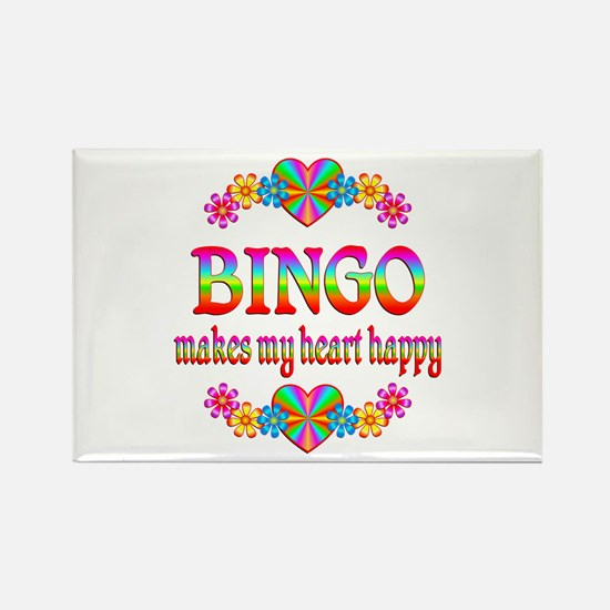 BINGO Happy Rectangle Magnet