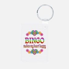 BINGO Happy Aluminum Photo Keychain