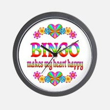 BINGO Happy Wall Clock