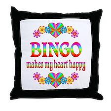 BINGO Happy Throw Pillow