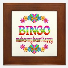 BINGO Happy Framed Tile