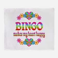 BINGO Happy Throw Blanket
