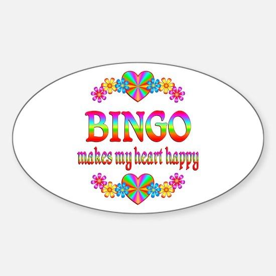 BINGO Happy Sticker (Oval)