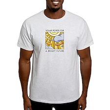 Solar Power for a Bright Futu Ash Grey T-Shirt