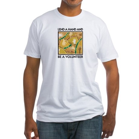 Lend a Hand and Volunteer Fitted T-Shirt