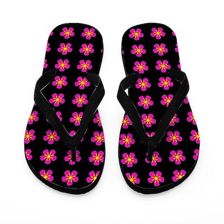 Pink Floral Fiesta Mother's Day Flip Flops Sandals