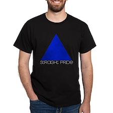 Straight Pride Streamline Log Black T-Shirt