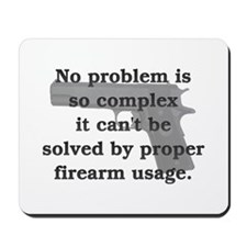 Proper Firearm Usage Mousepad
