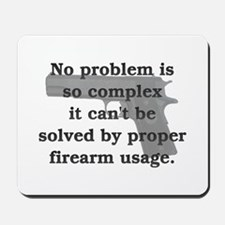 Proper Firearm Usage Mousepad