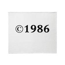 1986 Throw Blanket