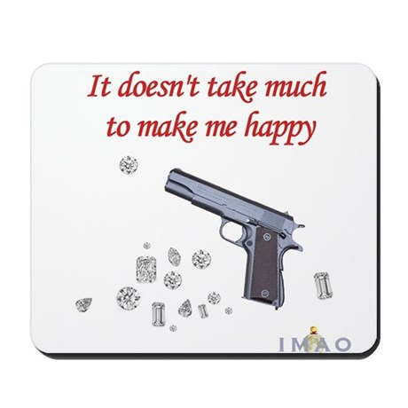 Guns and Diamonds Mousepad