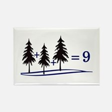 Tree Addition Rectangle Magnet