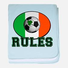 Irish Celtic Football Rules baby blanket