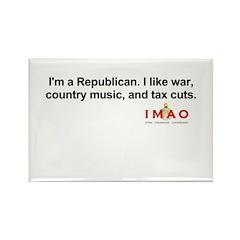 I'm a Republican Rectangle Magnet