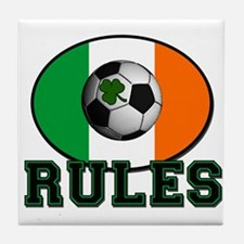 Irish Celtic Football Rules Tile Coaster