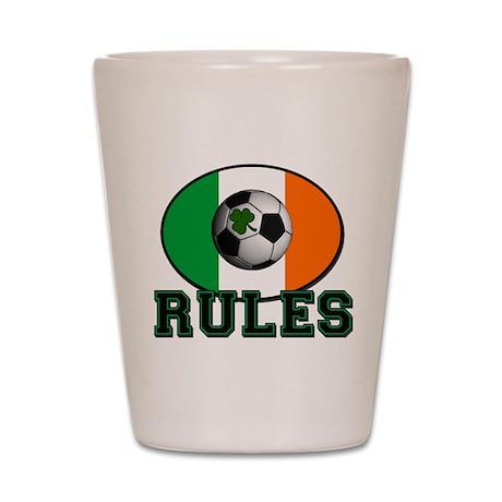 Irish Celtic Football Rules Shot Glass