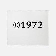 1972 Throw Blanket