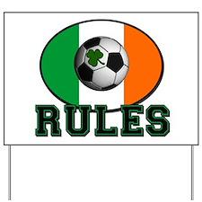 Irish Celtic Football Rules Yard Sign