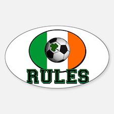Irish Celtic Football Rules Sticker (Oval)