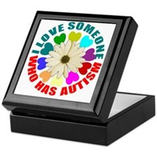I love someone who has autism Keepsake Box