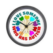 I love someone who has autism Wall Clock
