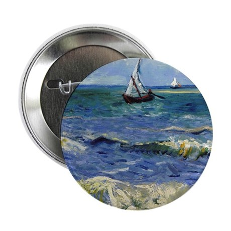 "Van Gogh - Seascape 2.25"" Button"