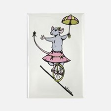 Miss Unicycle Rectangle Magnet