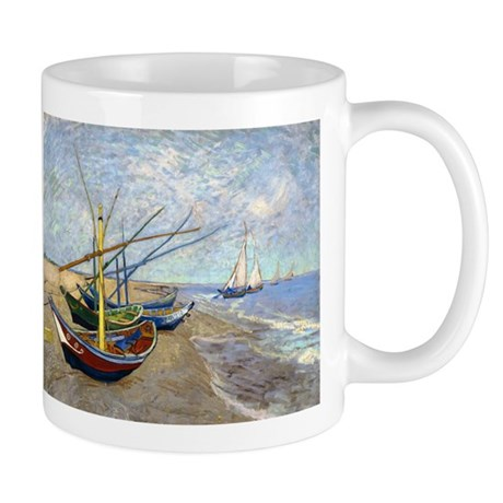 Van Gogh Fishing Boats Mug