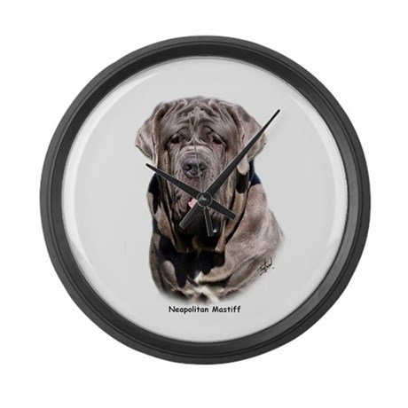 Neapolitan Mastiff 9Y393D-053 Large Wall Clock