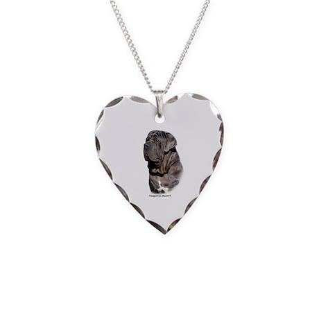 Neapolitan Mastiff 9Y393D-061 Necklace Heart Charm