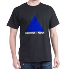 Straight Pride 'Broken' Logo Black T-Shirt