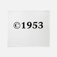 1953 Throw Blanket