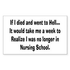 Funny Nursing Student Decal