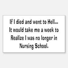 Funny Nursing Student Decal