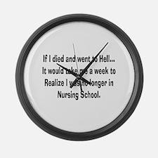Funny Nursing Student Large Wall Clock