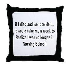 Funny Nursing Student Throw Pillow